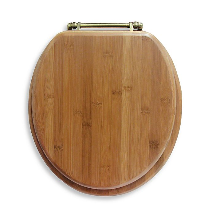 Ginsey Round Bamboo Toilet Seat Bed Bath Amp Beyond