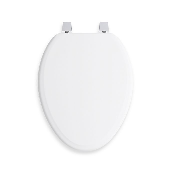 Surprising Kohler Ridgewood Q2 Elongated Toilet Seat In White Bed Machost Co Dining Chair Design Ideas Machostcouk