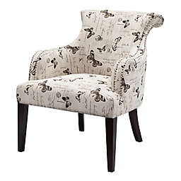 Madison Park Alexis Rollback Accent Chair in Cream/Multi