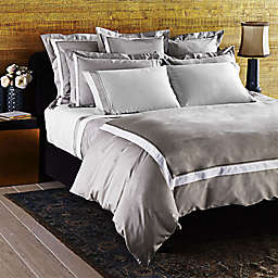 Frette At Home Arno Standard Pillow Sham in Grey/White