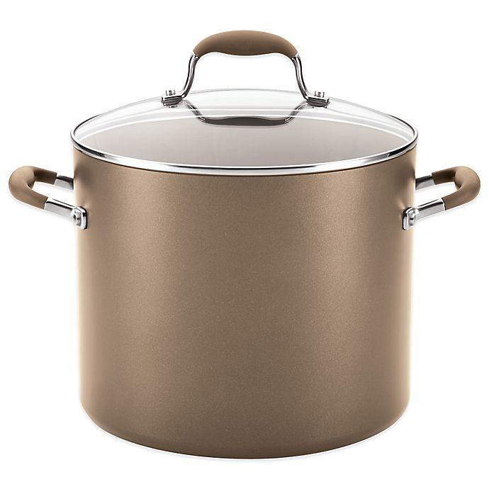Alternate image 1 for Anolon® Advanced Umber 12 qt. Covered Stock Pot
