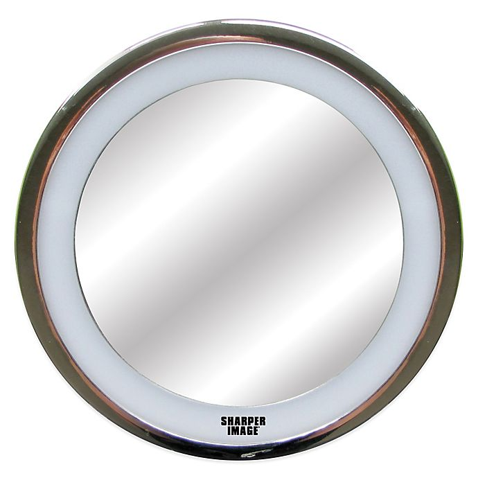Sharper Image 174 Led Anti Fog Shower Mirror In Chrome Finish