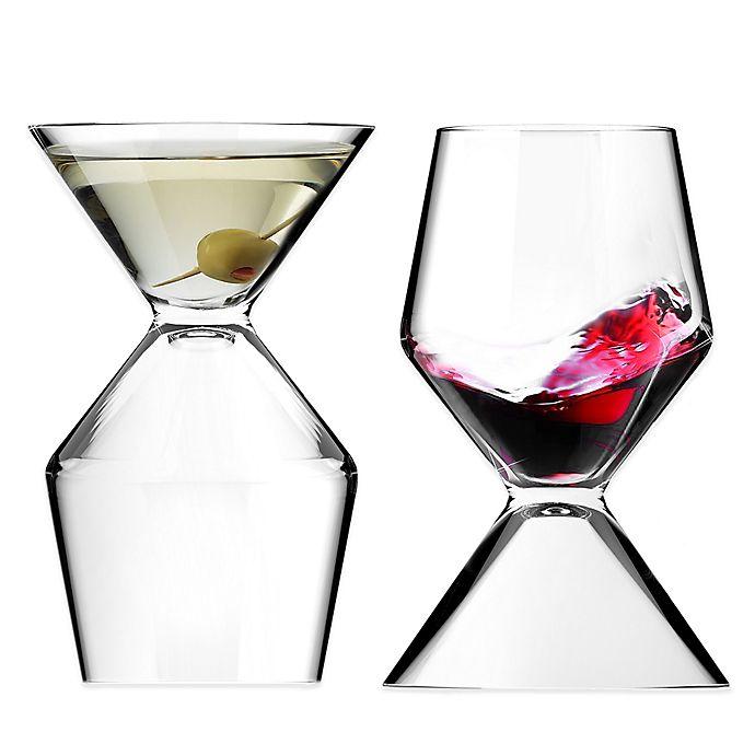 Alternate image 1 for Vino Tini Wine and Martini Glass