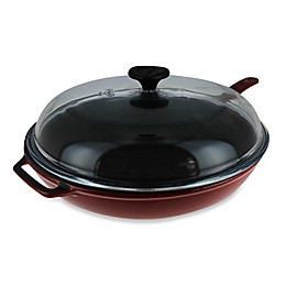 Chasseur® 11-Inch Cast Iron Fry Pan with Handle and Glass Lid