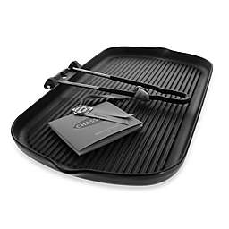Chasseur® Cast Iron Rectangular Grill with Folding Handles in Black