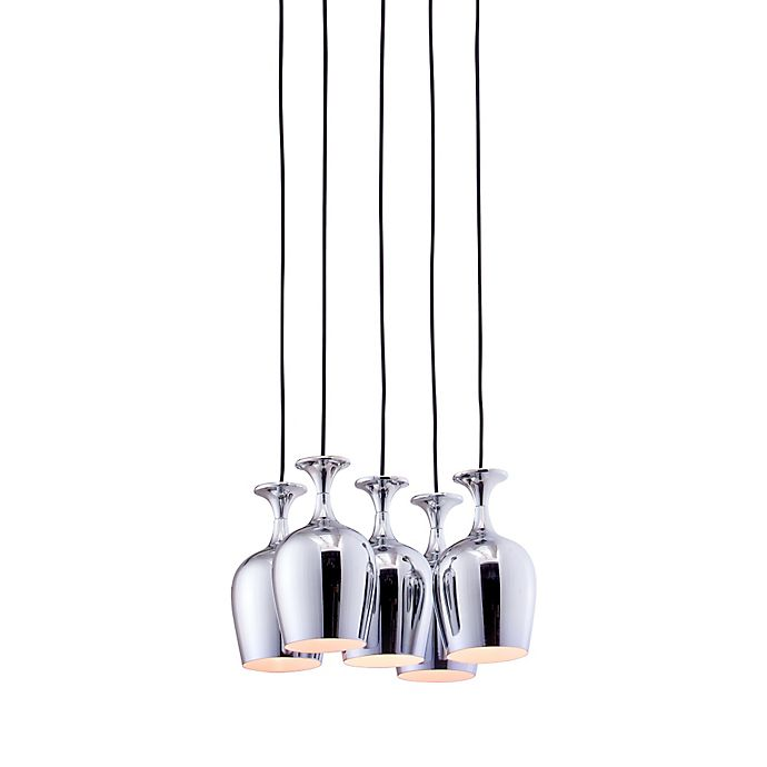 Alternate image 1 for Zuo® Pure Ice 5-Light Ceiling Lamp