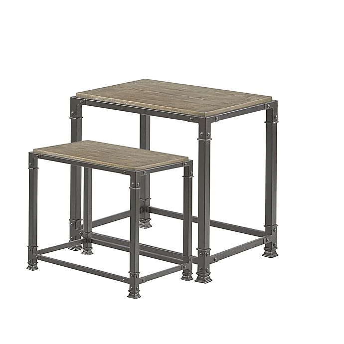Alternate image 1 for Madison Park Cirque Nesting Tables in Grey (Set of 2)