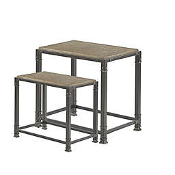 Madison Park Cirque Nesting Tables in Grey (Set of 2)