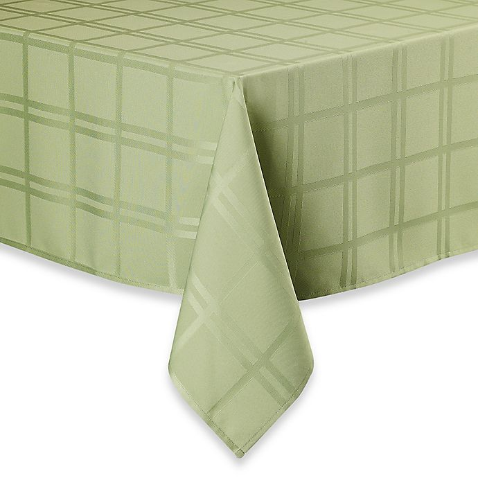 Alternate image 1 for Origins™ Microfiber 60-Inch x 140-Inch Tablecloth in Kiwi