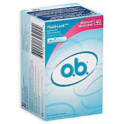 O.B. Tampons 40-Count Regular