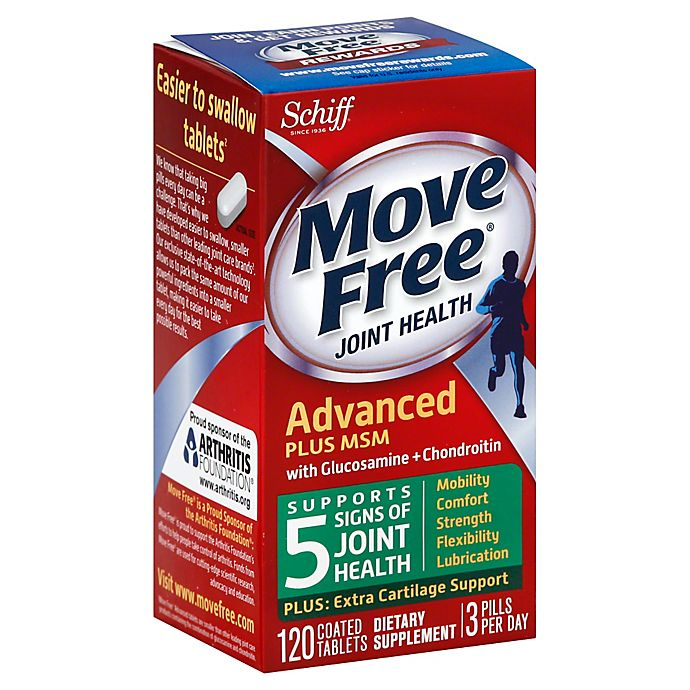Alternate image 1 for Schiff Move Free 120-Count Glucosamine & Chondroitin MSM Tablets