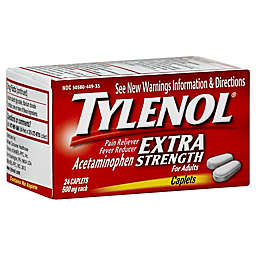 Tylenol® Extra Strength 24-Count 500 mg Pain Reliever Caplets