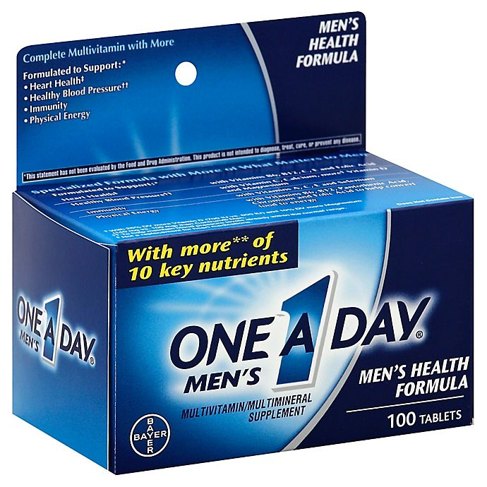 Alternate image 1 for One A Day® 100-Count Men's Multivitamin/Multimineral Tablets
