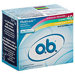 O.B.® Multi-Pack 40-Count Tampons