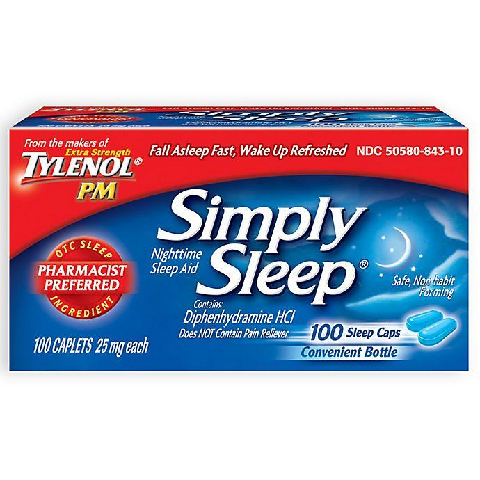 Alternate image 1 for Simply Sleep 100-Count Nighttime Sleep Aid Caplets