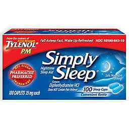 Simply Sleep 100-Count Nighttime Sleep Aid Caplets