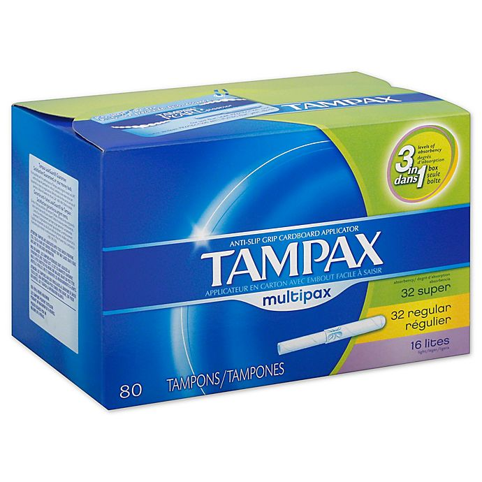Alternate image 1 for Tampax 80-Count Multipax Unscented Tampons