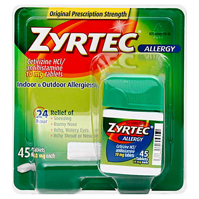 Zyrtec 45-Count 10 mg Tablets