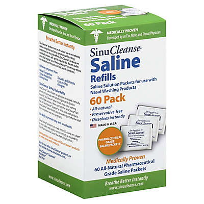 SinuCleanse® 60-Count Saline Refills for Nasal Washing Products