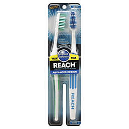 Reach Advanced Design 2-Pack Soft Toothbrush in Blue/Green