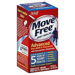 Schiff Move Free® Glucosamine Chondroitin MSM & Vitamin D3 80-Count Tablets