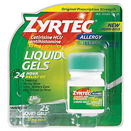 Zyrtec® 25-Count Allergy Liquid Gel Capelets