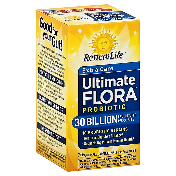 Alternate image 1 for Renew Life® Ultimate Flora™ 30 Billion 30-Count Extra Care Daily Probiotic Capsules