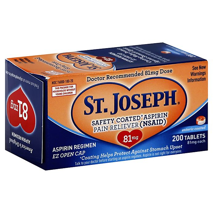 Alternate image 1 for St. Joseph® 200-Count Safety Coated Aspirin Tablets