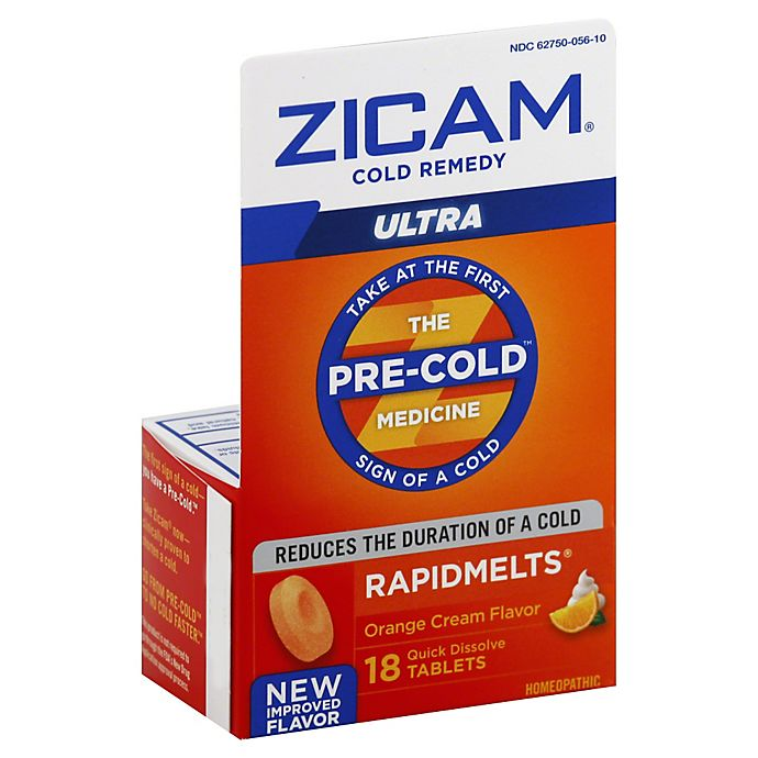Alternate image 1 for Zicam Ultra Cold Remedy 18-Count Rapid Melts in Orange Cream