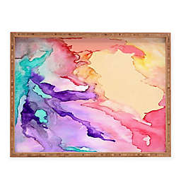 Deny Designs Color my World by Rosie Brown Rectangular Serving Tray