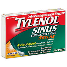 Tylenol® Severe Daytime 24-Count Sinus Congestion And Pain Relief Caplets