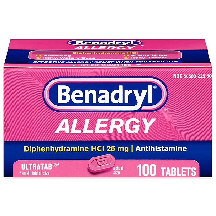 Alternate image 1 for Benadryl Allergy Ultra 100-Count Tablets