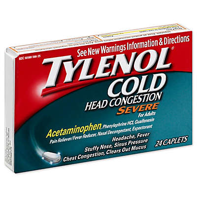 Tylenol® Cold 24-Count Head Congestion Severe Caplets