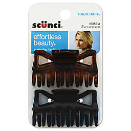 Scunci® 2-Pack Thick Hair Jaw Clip