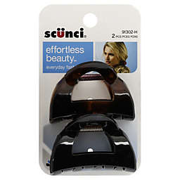 Scunci® 2-Count Clutch Jaw Hair Clips