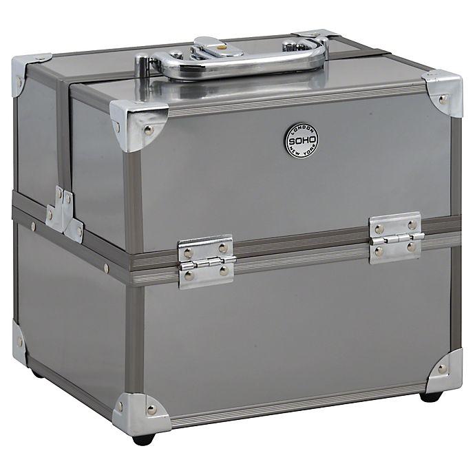 Alternate image 1 for Soho Medium Train Case in Metallic Silver
