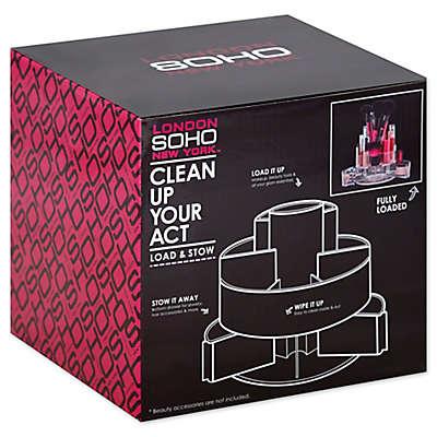 Soho Expandable Swivel Cylinder Vanity Organizer