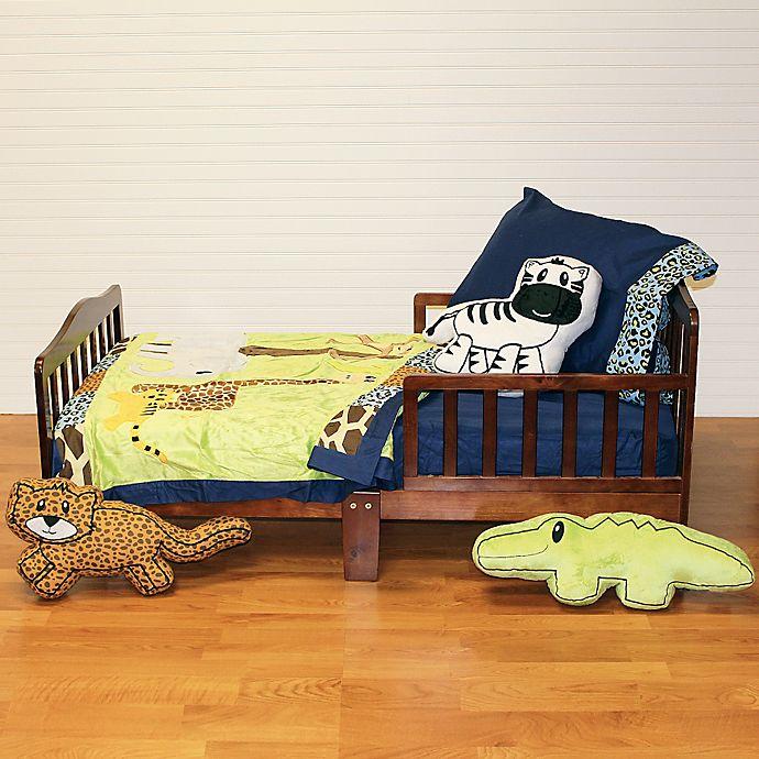 Alternate image 1 for One Grace Place Jazzie Jungle Boy 4-Piece Toddler Bedding Set