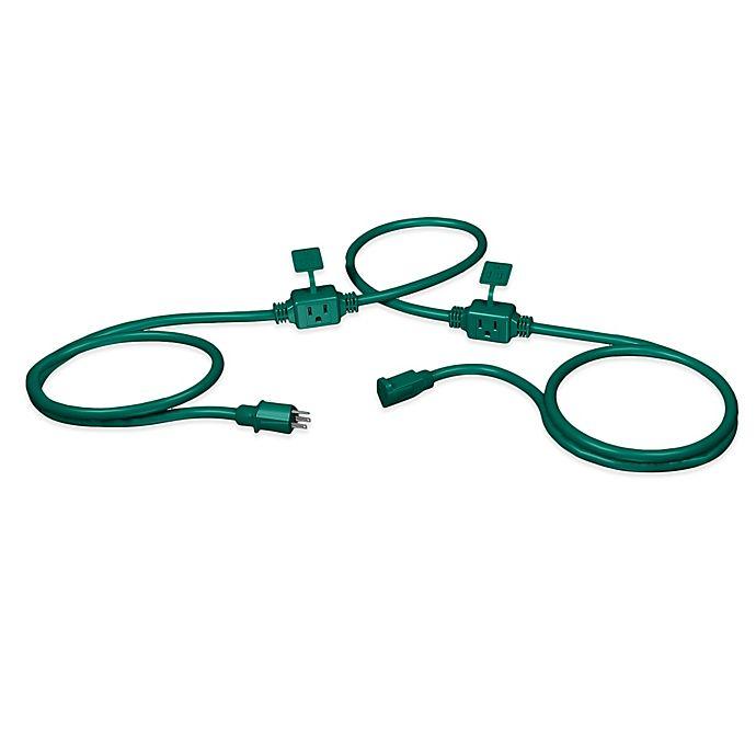 Stanley Powermax 25 Foot Outdoor Extension Cord In Green