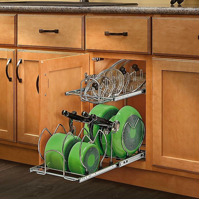 Alternate image 1 for Rev-A-Shelf® 2-Tier Cookware Organizer