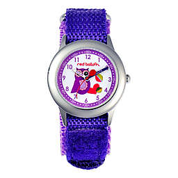 Red Balloon Children's 32mm Purple Owl Time Teacher Watch in Stainless Steel with Purple Strap