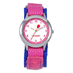 Red Balloon Children's 30mm Time Teacher Watch in Stainless Steel with Purple/Pink Strap