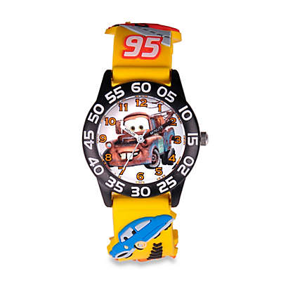 "Disney® Children's 32mm ""Cars"" Mater 3D Plastic Watch in Yellow"