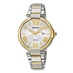 Seiko Ladies' Two-Tone Solar Recraft Watch in Stainless Steel