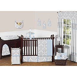 Sweet Jojo Designs Avery Crib Bedding Collection in Blue and Grey