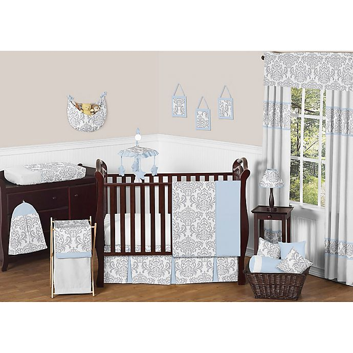 Alternate image 1 for Sweet Jojo Designs Avery Crib Bedding Collection in Blue and Grey