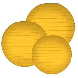Round Paper 6-Count Lanterns in Yellow