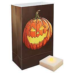 6-Count Jack-O-Lantern LED Luminaria Kit with Timer