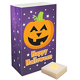 6-Count Pumpkin LED Luminaria Kit with Timer