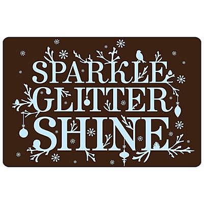 Bungalow Flooring Sparkle Glitter Shine 18-Inch x 27-Inch Floor Mat